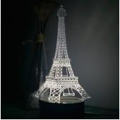 3D светильник Париж