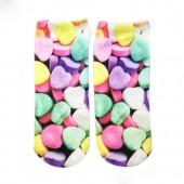 Модные носки с принтом Конфетки