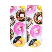 Модные носки с принтом Пончик