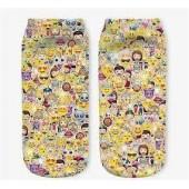 Модные носки с принтом Emojis