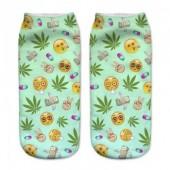Модные носки с принтом Emoji