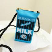 Сумка Молоко синяя