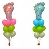 Букет из шариков Ножка малыша
