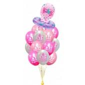 Букет из шариков Соска + 7 шаров
