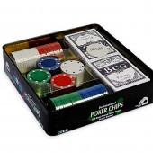 Набор для покера в металлической коробке