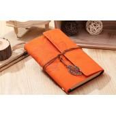 Винтажный блокнот оранжевый