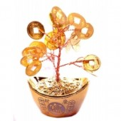 Дерево счастья с золотыми монетами
