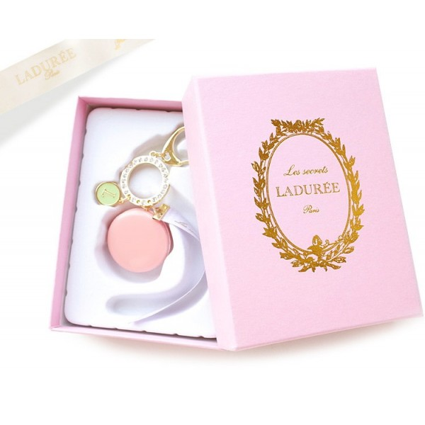Брелок Макарон розовый
