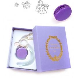 Брелок Макарон фиолетовый