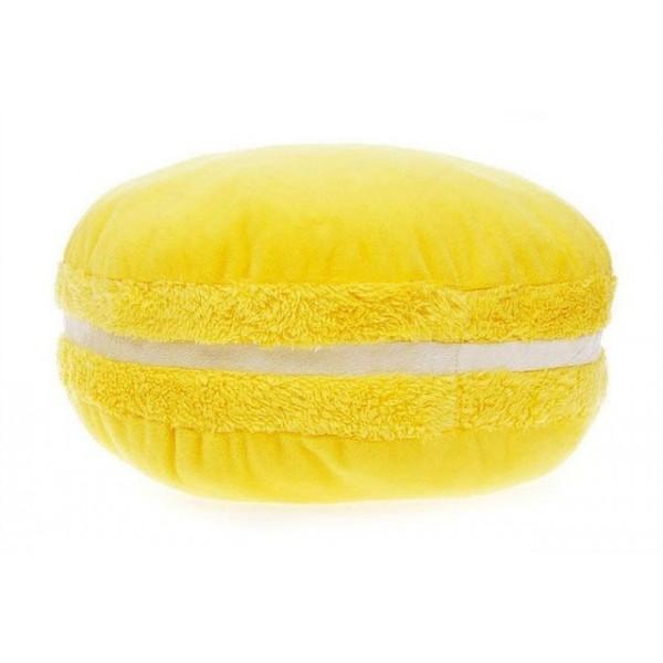 3D подушка Макарон желтая