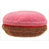 3D подушка Макарон шоколадно-малиновая