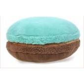 3D подушка Макарон коричнево-голубая