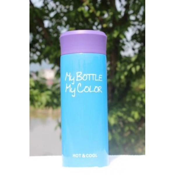 Термокружка My bottle синяя