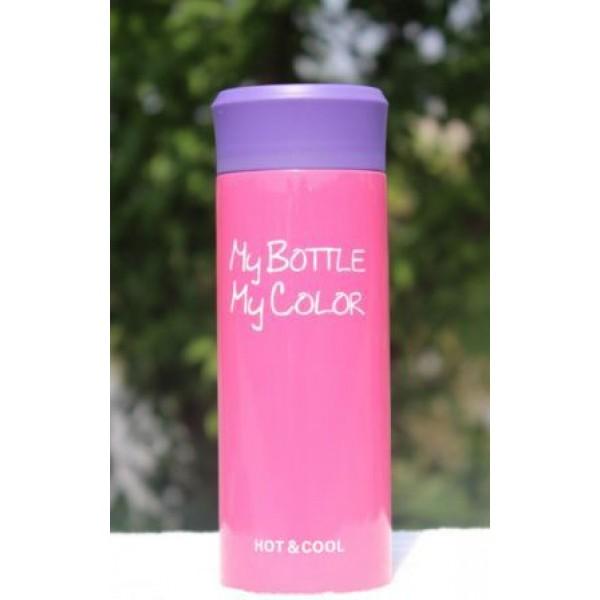 Термокружка My bottle розовая