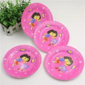 Праздничные тарелки Даша путешественница 10 шт