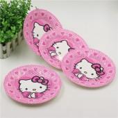 Праздничные тарелки Hello Kitty 10 шт