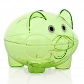 Копилка свинка зеленая
