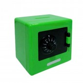 Копилка сейф для мелочи зеленая