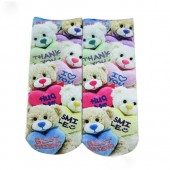 Модные носки с принтом Мишка