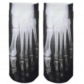 Модные носки с принтом Скелет