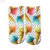 Модные носки с принтом Мороженое