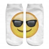 Модные носки с принтом emoji with sunglasses