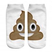 Модные носки с принтом emoji Pile of Poo