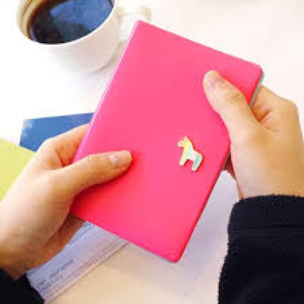 Pony Passport Case Обложка на паспорт розовая