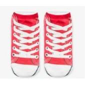 Носки с рисунком Красные кеды
