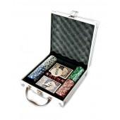Покерный набор на 100 фишек в металлическом кейсе