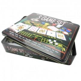 Купить Казино — набор игр 5 в 1: рулетка, покер, блэкджек, кости, покер с игральными костями