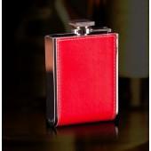 Подарочная фляга красная