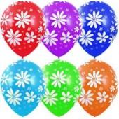 Латексные шарики Ромашка мелкая 12 дюймов 30 см