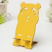 Держатель смартфона мишка желтый