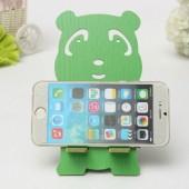 Держатель смартфона мишка зеленый