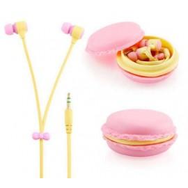 Наушники Макаруны Macarons  розовые