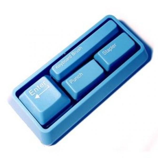 Канцелярский набор Клавиши голубые