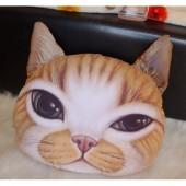 3D подушка кот рыжий