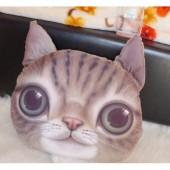 3D подушка кот милый