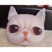 3D подушка кот белый